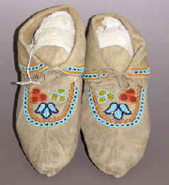 Woodland Indian Moccasins from the Great Lakes
