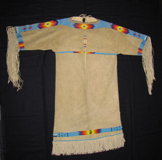 Sioux beaded buckskin dress