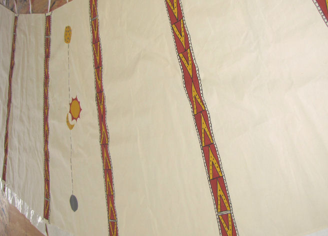 Traditional Cree Liner by Assiniboine Tipis