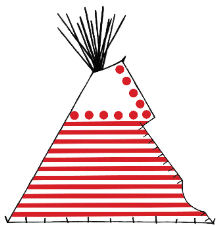 Traditional Blood Style Style Painted Tipi