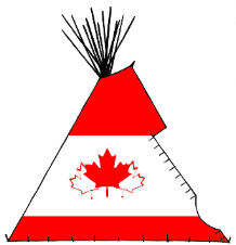 Canadian Flag Teepee