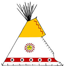 Spirit Hand Painted Teepee - Copyright Assiniboine Tipis
