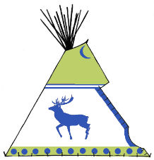 Hehaka, the Wapiti Tepee - Copyright Assiniboine Tipis