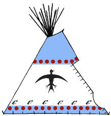 Traditional Style Ojibway Teepee - Copyright Assiniboine Tipis
