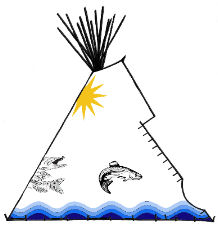 Wild Waters Painted Teepee - Copyright Assiniboine Tipis