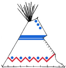Sioux style painted teepee - Copyright Assiniboine Tipis