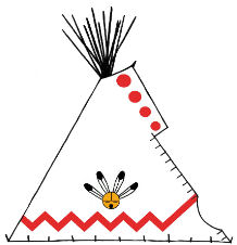 Sunface Painted Teepee - Copyright Assiniboine Tipis