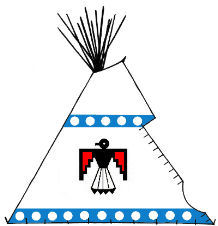 Thunderbird Painted Tipi - Copyright Assiniboine Tipis