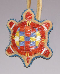 Native American Quilled Navel Amulet