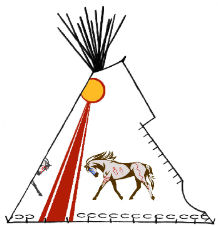 War Horses - Copyright Assiniboine Tipis