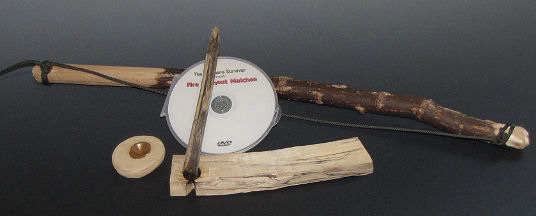 Fire Making Bow Drill and DVD