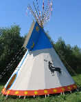 Sioux Teepee in Manitoba