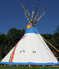 Painted teepee made in Canada