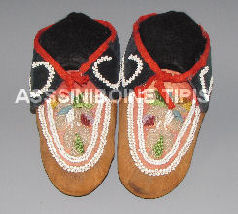 Antique Mohawk Moccasins