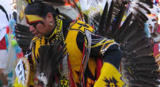 Native Dancer in Full Regalia