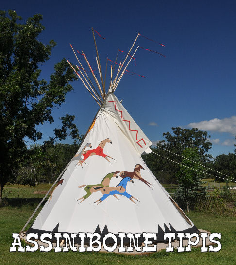 Painted teepee from Assiniboine Tipis