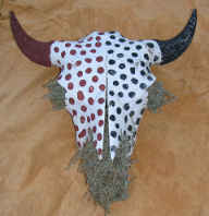 Painted Buffalo Skull